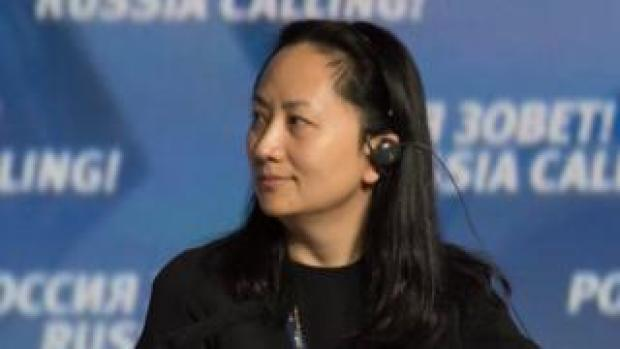 """Huawei executive Meng Wanzhou attends the VTB Capital Investment Forum """"Russia Calling!"""" in Moscow in 2014"""
