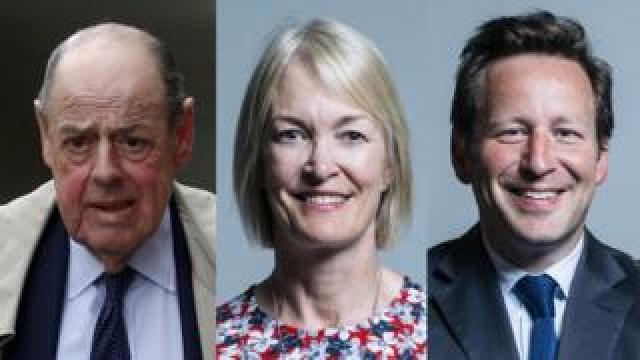 Sir Nicholas Soames, Margot James and Ed Vaizey