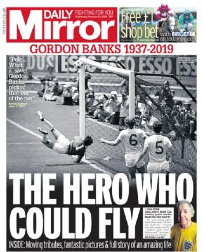 The Mirror front page 13/02/19