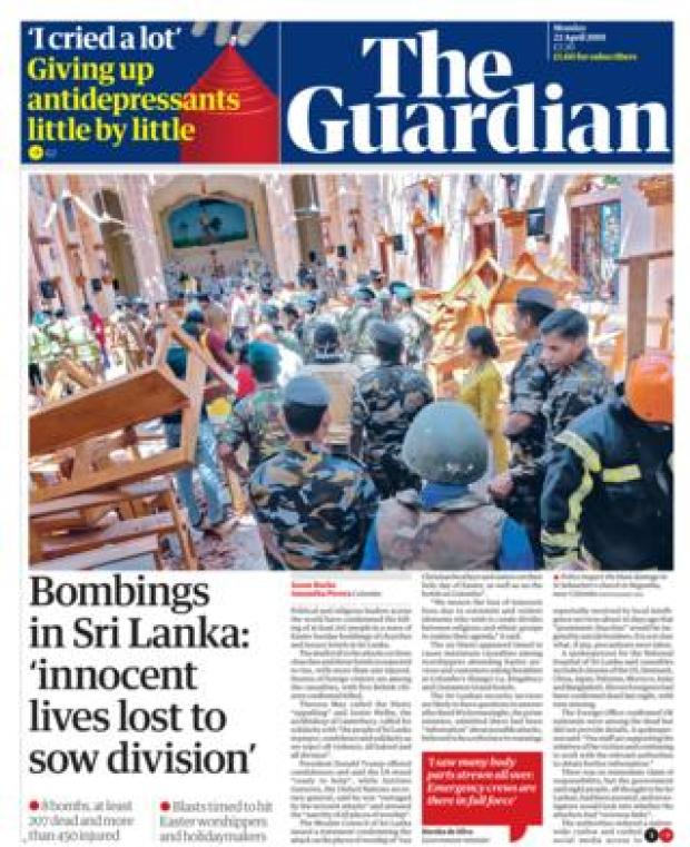 Guardian front page 22/04/19