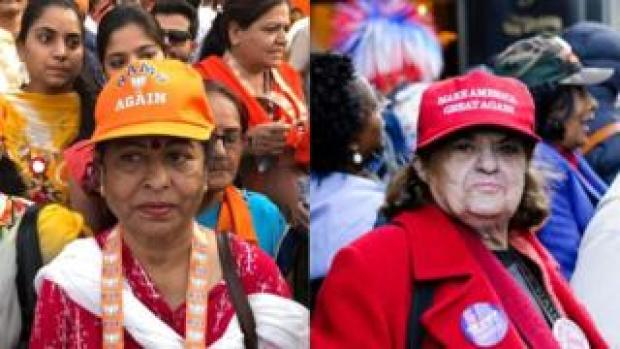 Women in Modi and Trump rallies