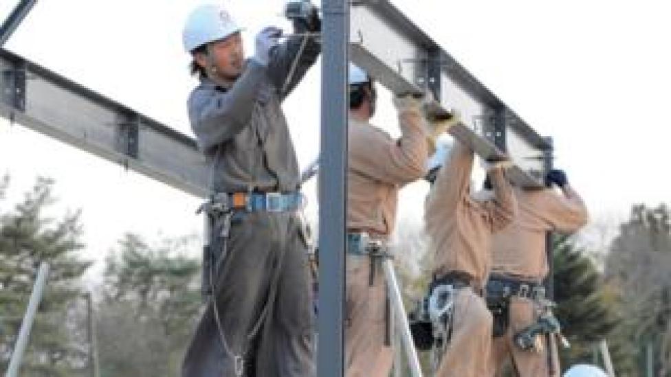 Travailleurs de la construction au Japon (photo d'archive)