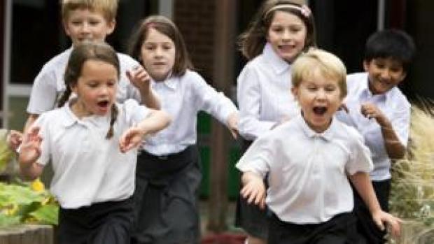 School children enjoying break-time