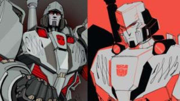 Megatron, drawn by More than Meet the Eye fans Winston Chan / @CWingsyun, colours by @jamesydraws, and @raadst as part of the #LostLightFest