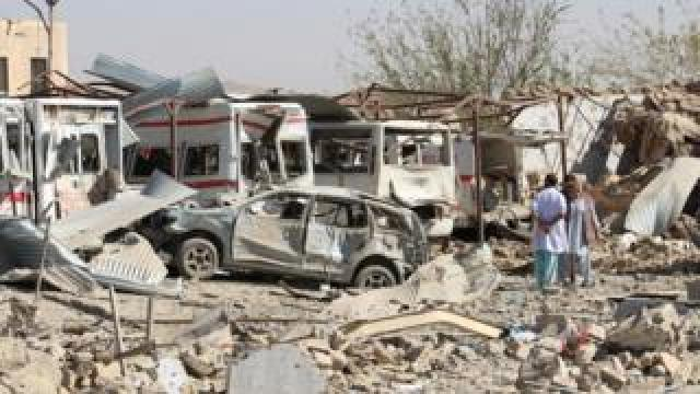 Damaged vehicles are seen at the site of a car bomb attack in Qalat, capital of Zabul province, Afghanistan September 19, 2019
