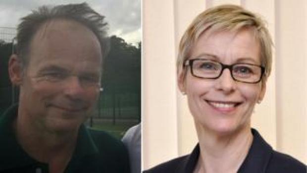 Gavin Rushton (left) and Sarah Rushton (right)