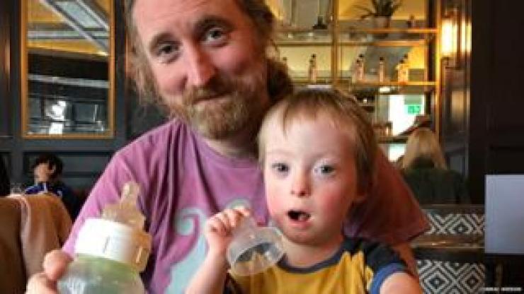 Cormac Neeson with his son, Dabhog