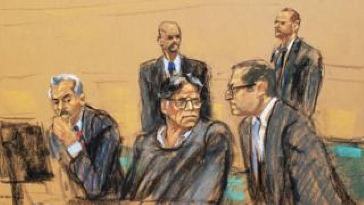 Courtroom sketch of Keith Raniere