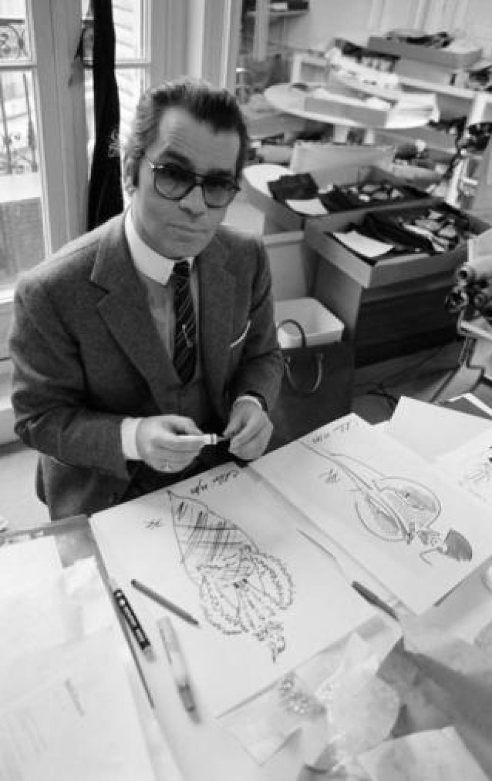 Karl Lagerfeld, artistic director of Chloé Paris, France.