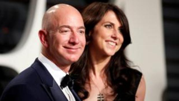 Amazon's Jeff Bezos and his wife MacKenzie Bezos