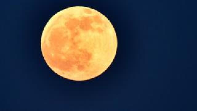 The lunar eclipse in Macedonian capital Skopje