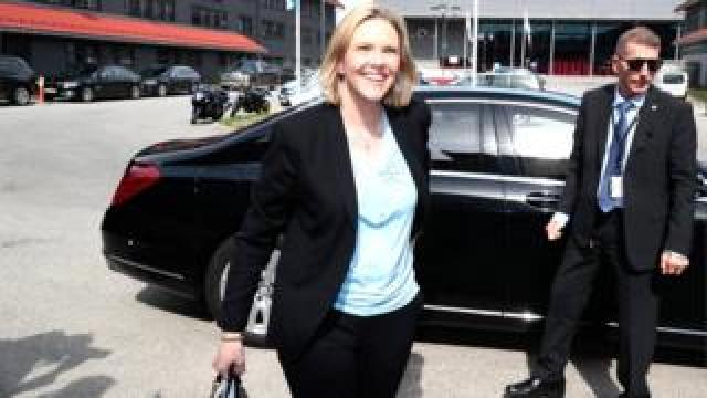 Newly appointed Norwegian minister for public health and the elderly Sylvi Listhaug in Oslo on 3 May 2019