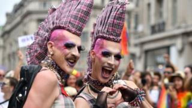 Revellers at London's Pride