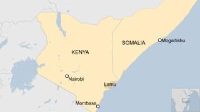 Map of Kenya and Somalia