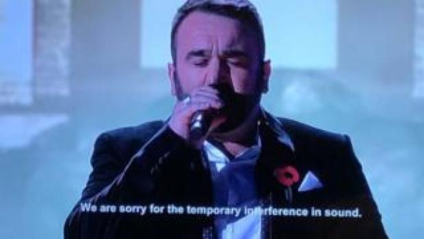 The sound issues affected Danny Tetley's performance