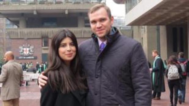 Daniela Tejada with her husband Matthew Hedges