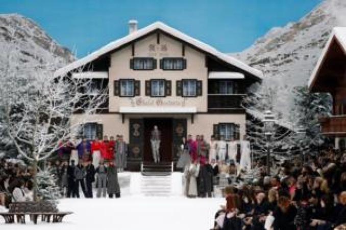 Chanel ski chalet