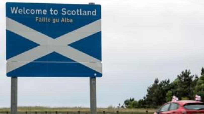 Scottish border sign