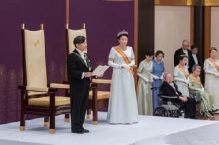 Japan's new Emperor Naruhito ascends the throne