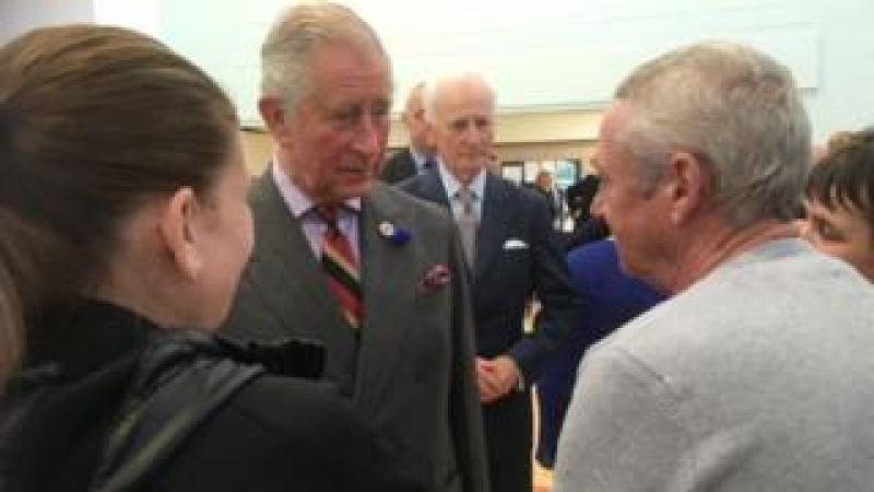Prince Charles meets flood victims