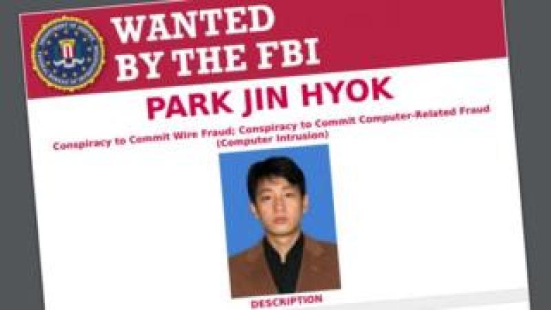 FBI wanted poseter for Park Jin-hyok
