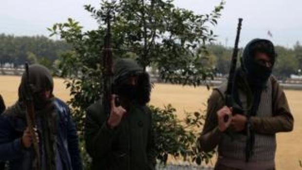 Former Taliban Former Taliban militants surrender their weapons in Jalalabad, Afghanistan. Photo: 6 January 2020