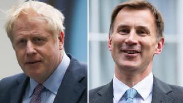Boris Johnson and Jeremy Hunt composite picture