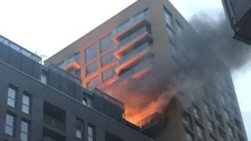 The fire started on the 12th floor of the 20-storey tower block