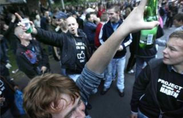 Riot police were called in when partygoers descended in their thousands on Haren in 2012