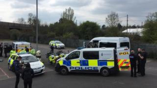 Police at Cullompton