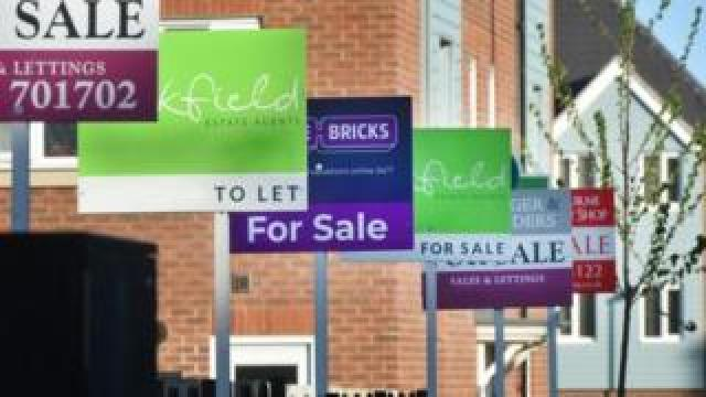 For sale and lettings signs