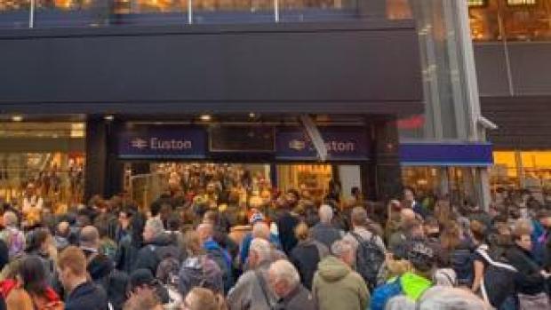 Crowds at Euston