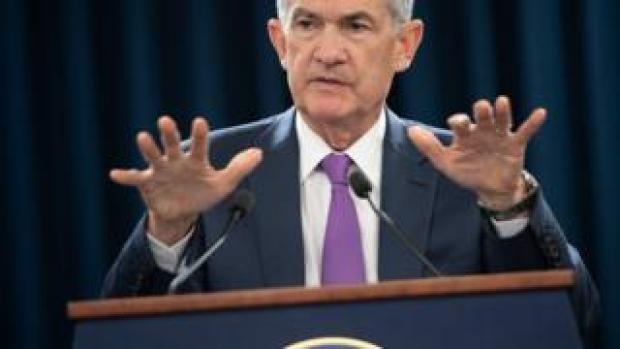 In this file photo taken on September 26, 2018 Federal Reserve Board Chairman Jerome Powell speaks during a press conference in Washington, DC. -