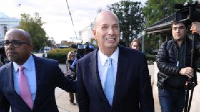 Ambassador Sondland (C) arriving at Capitol, 17 Oct 19