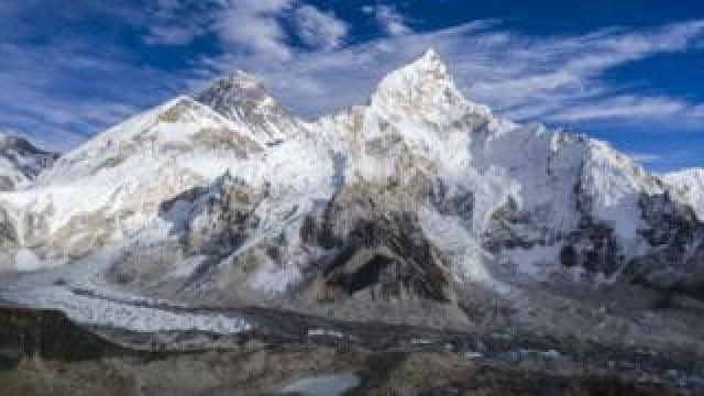 Mount Everest and the Khumbu glacier