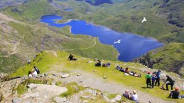 Snowdon is the highest peak in Wales and England at 1,085 metres