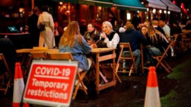 a pub in Soho 23 Sept 2020, the day new restrictions were announced