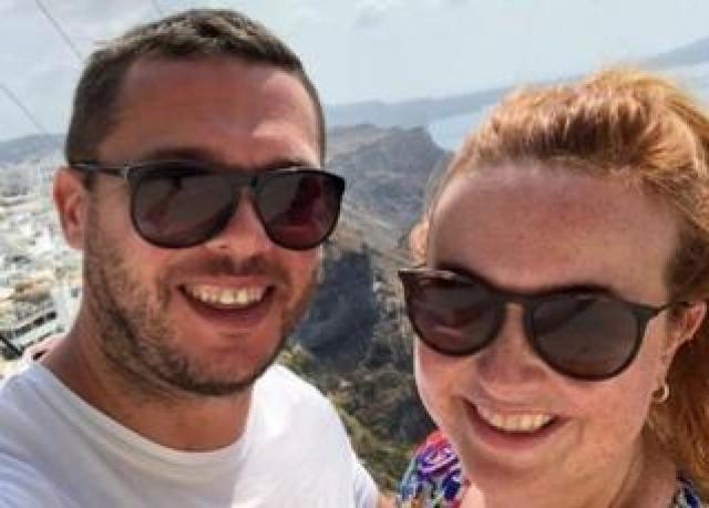 Colin and Kate Rawson on their recent honeymoon