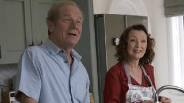 Peter Mullan and Lesley Manville