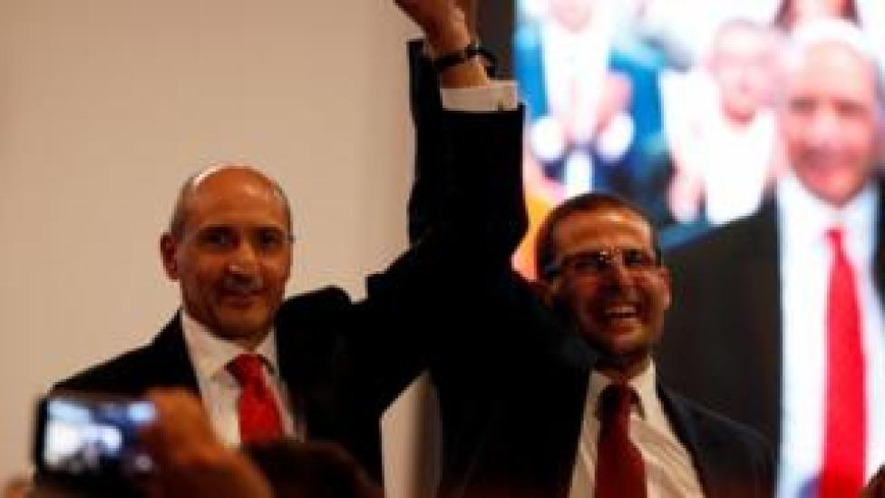 Robert Abela and Chris Fearne attend outgoing Prime Minister and Labour Party leader Joseph Muscat's final speech