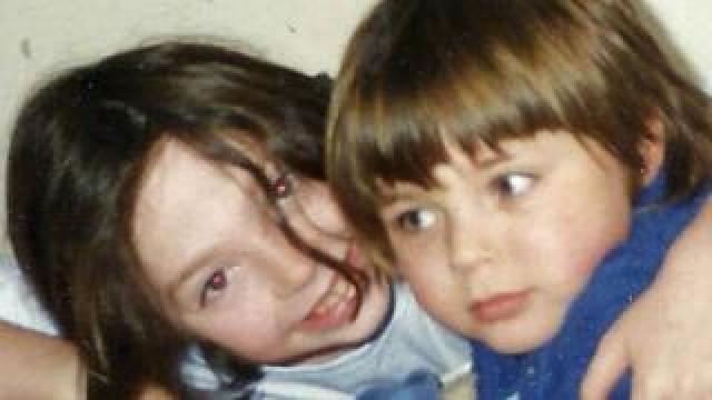 Rhiannon Lucy Cosslett and her brother