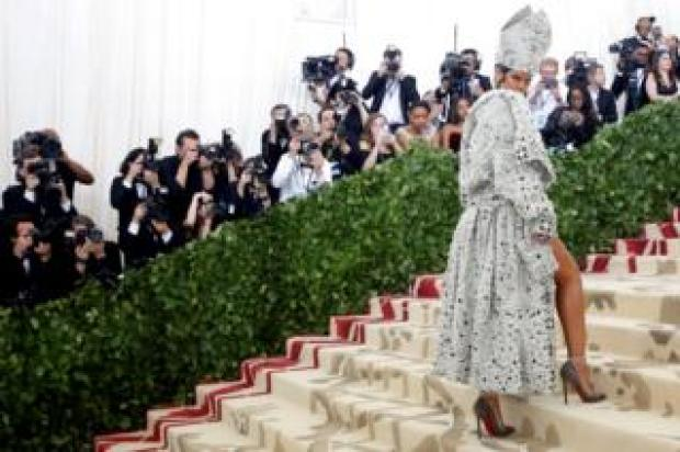 Singer Rihanna arrives at the Metropolitan Museum of Art Costume Institute Gala
