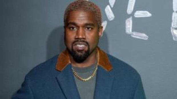 Kanye West at a Versace event