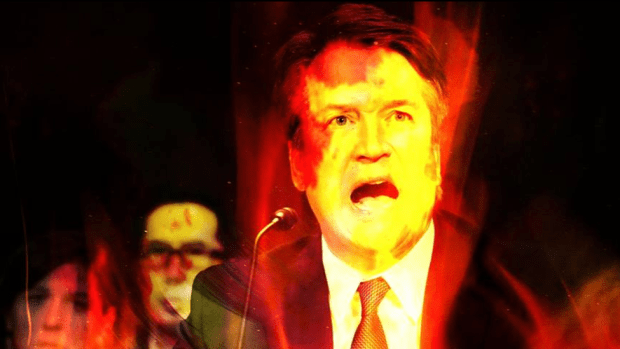 The image used by Catland Books to promote their event aimed at placing a hex on Brett Kavanaugh