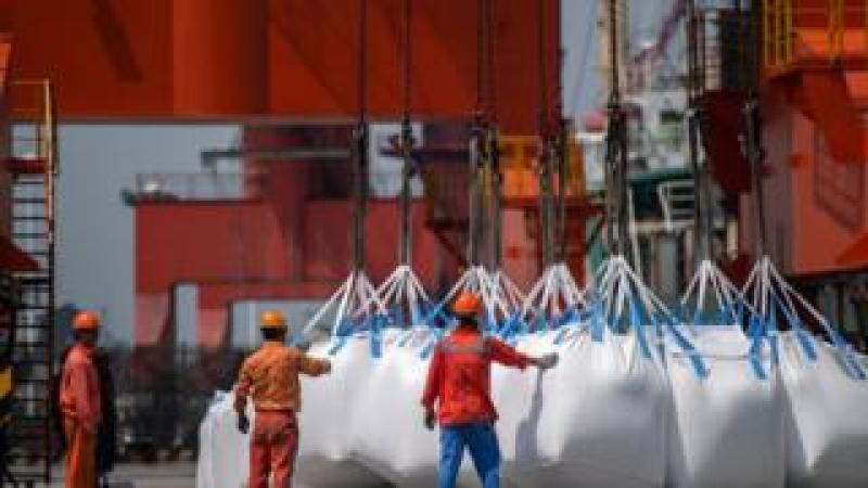 Chemical imported at Chinese port