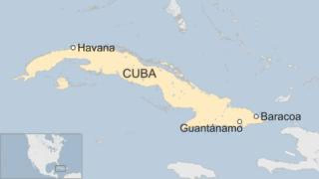 Map of where the accident took place in Cuba