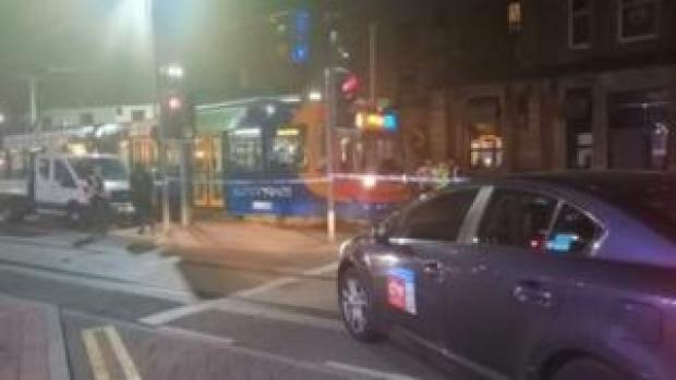 The scene on West Street on Wednesday
