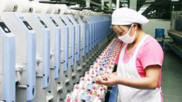 Textile factory in China's Jiangsu province - 1 June