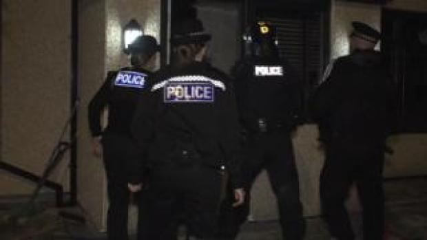 Drugs raids in Kirkby
