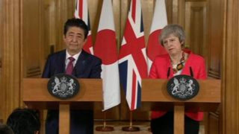 Shinzo Abe and Theresa May